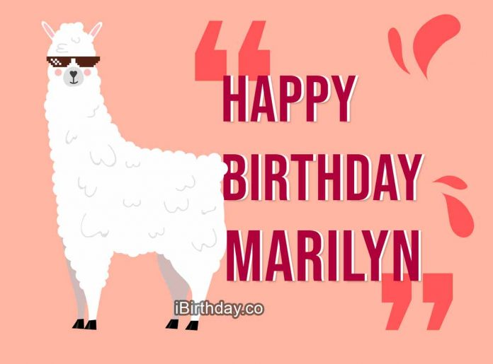 Marilyn Lama Happy Birthday