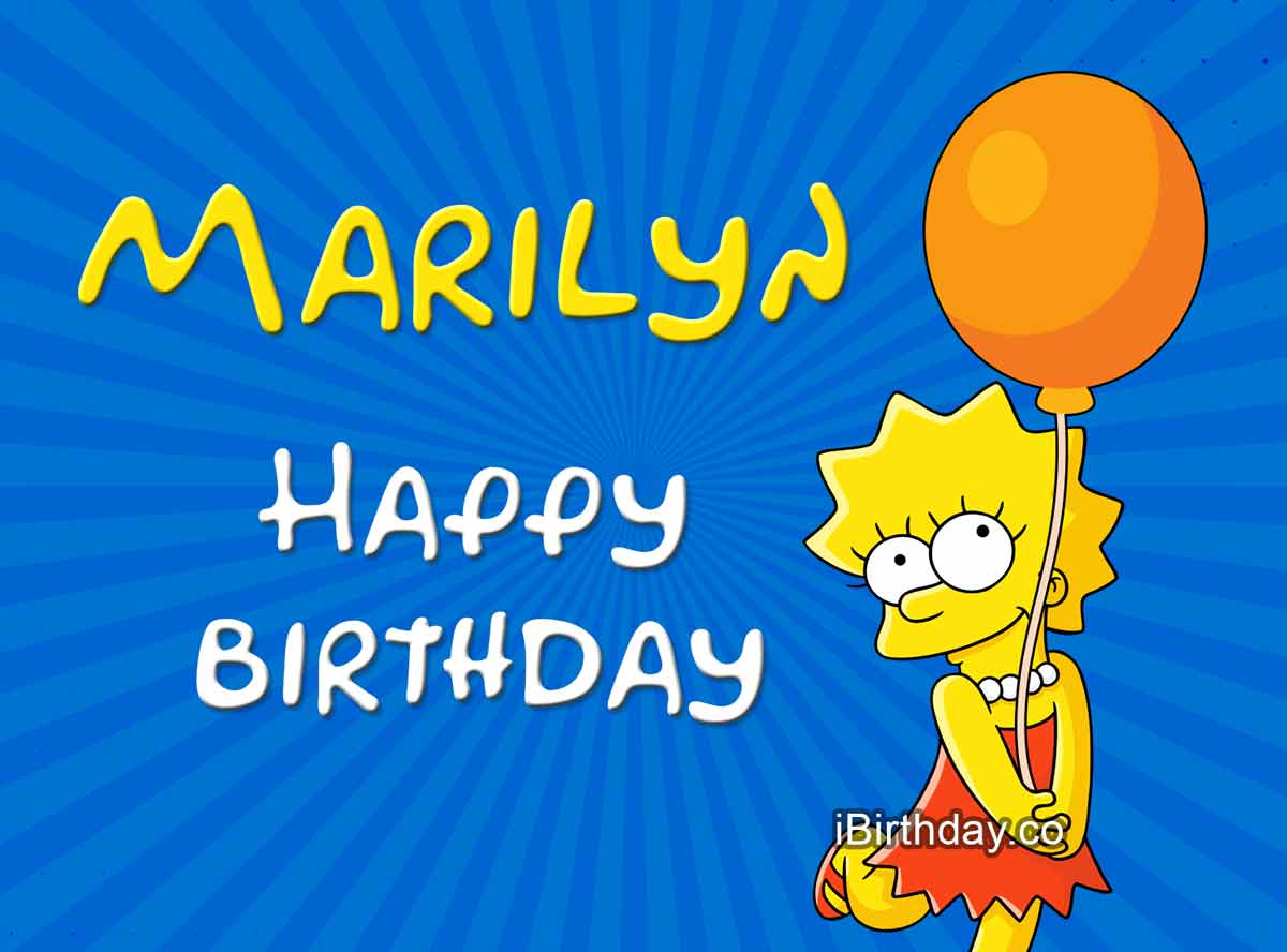 Marilyn Lisa Birthday Meme