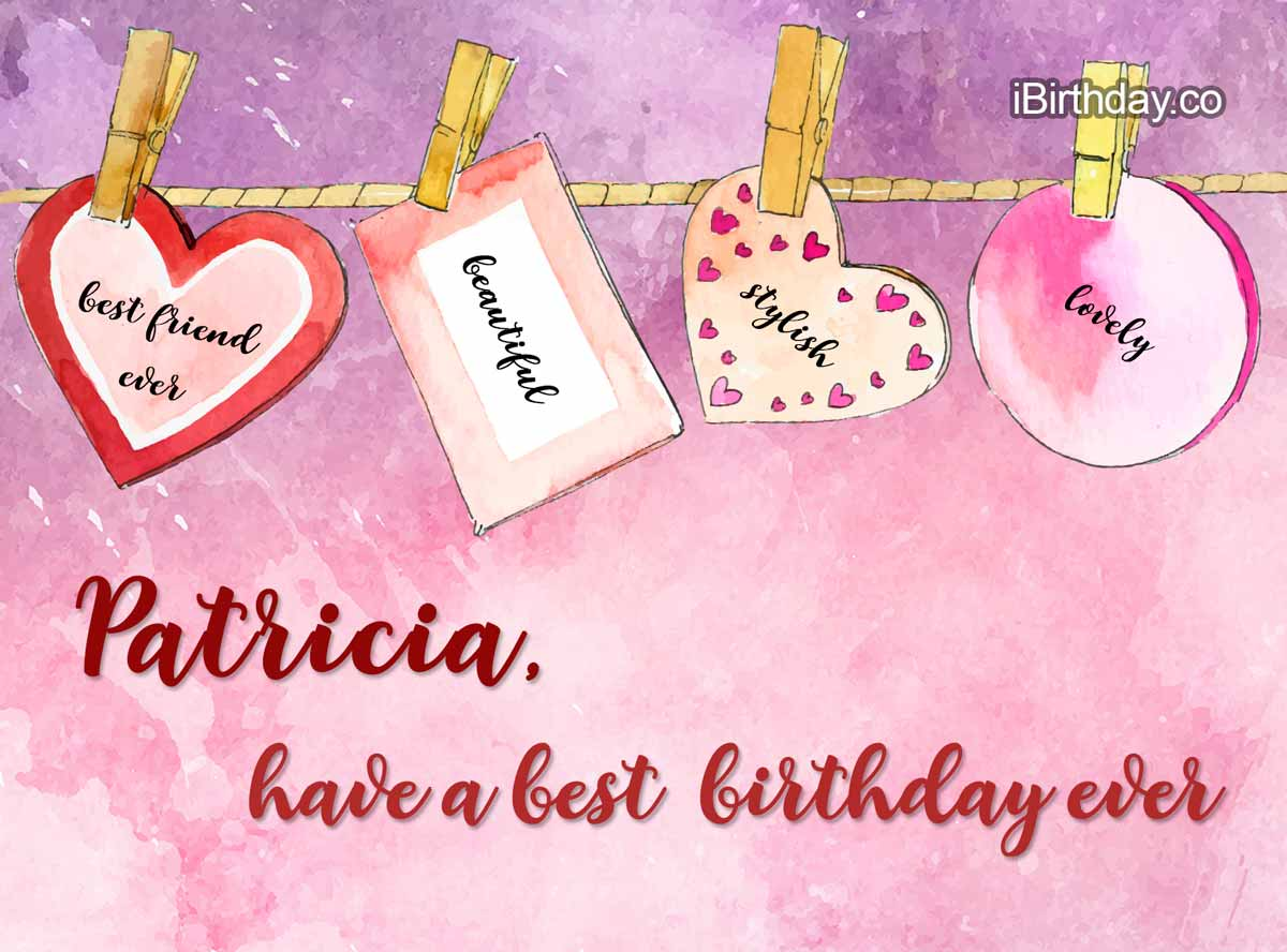 Patricia Heart Happy Birthday
