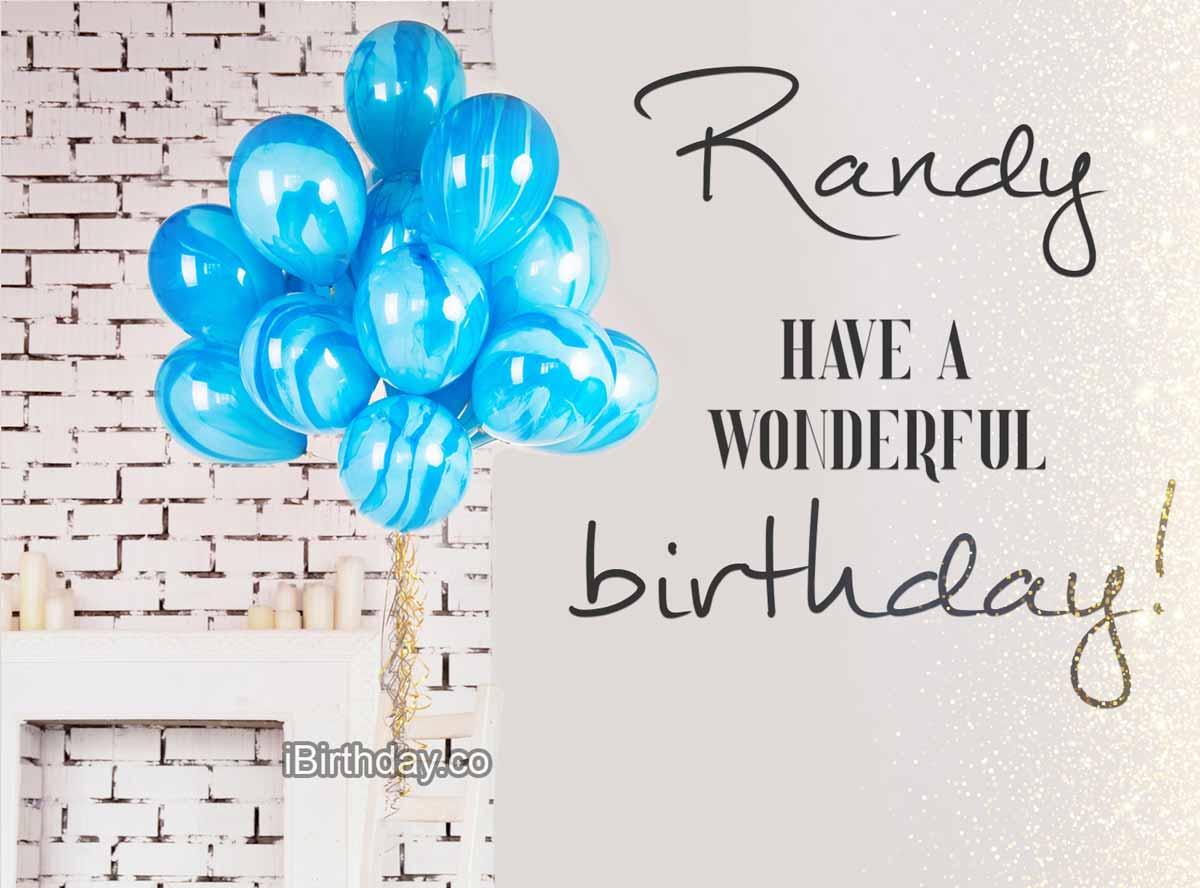 Randy Balloons Happy Birthday