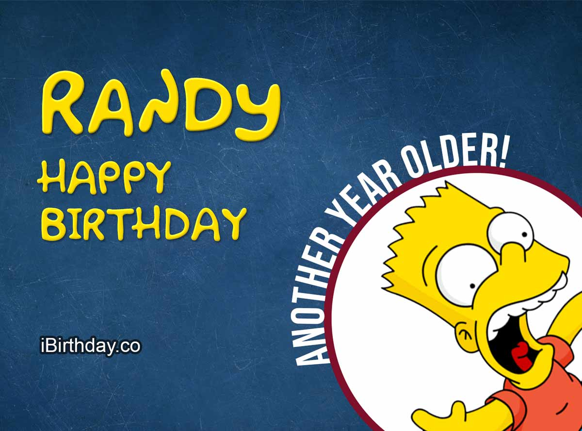 Randy Bart Simpson Birthday Meme