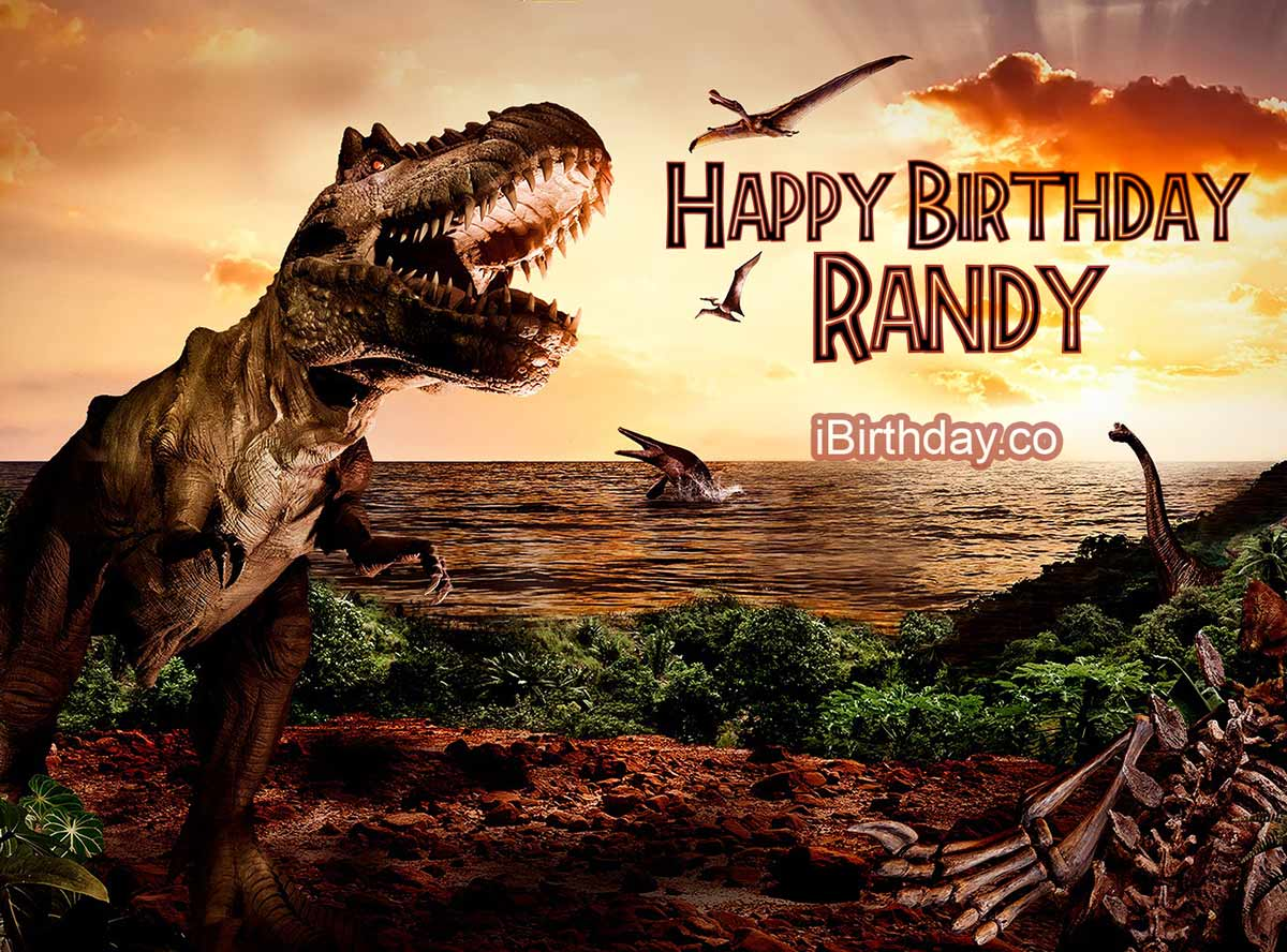 Randy Dinosaur Birthday Meme