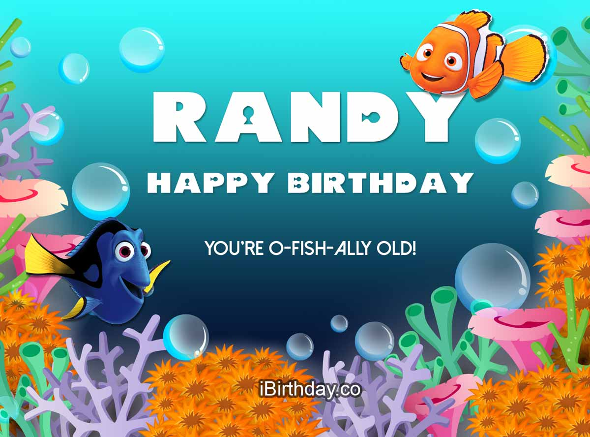 Randy Nemo Happy Birthday