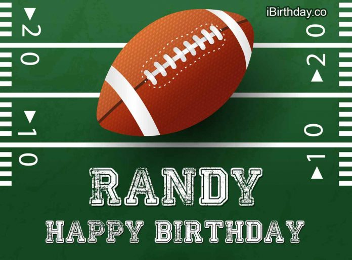 Randy Rugby Happy Birthday