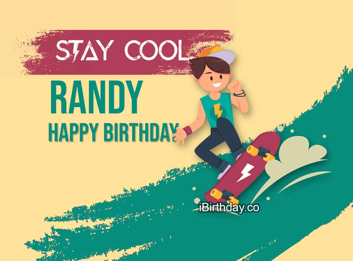 Randy Skateboard Happy Birthday