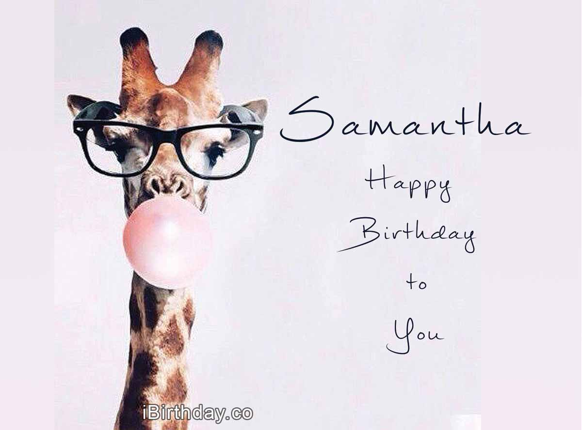 Samantha Giraffe Birthday Meme