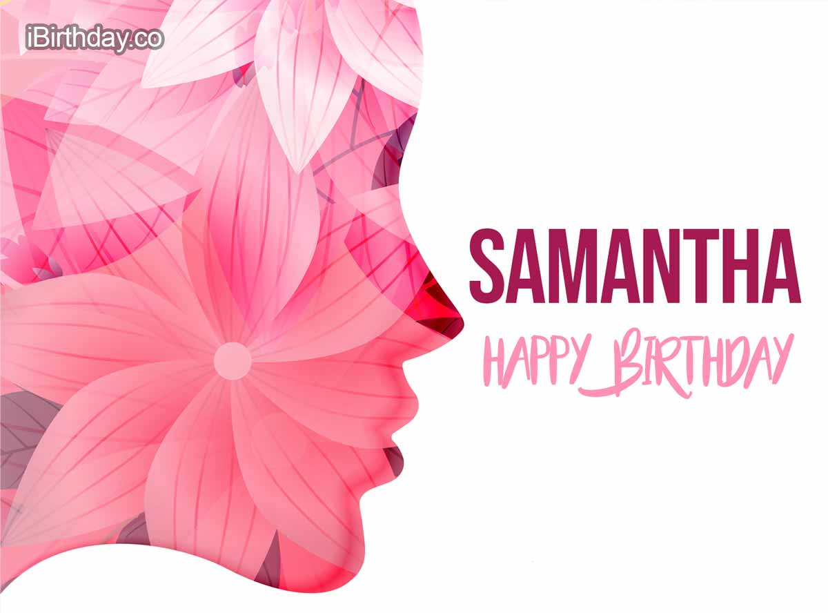 Samantha Girl Happy Birthday