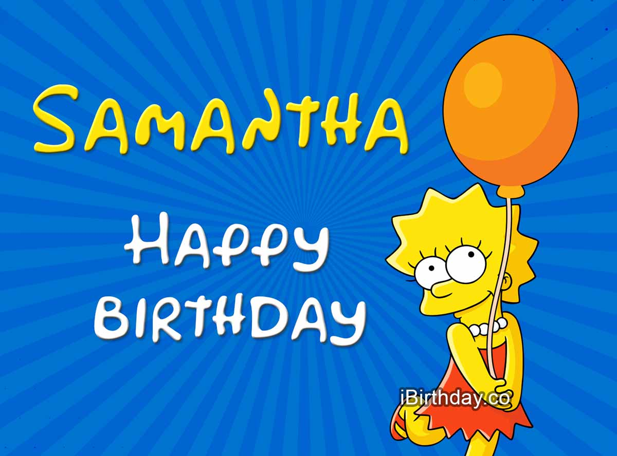 Samantha Lisa Simpson Birthday Meme