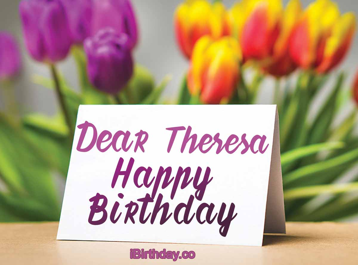 Theresa Card Birthday Wish