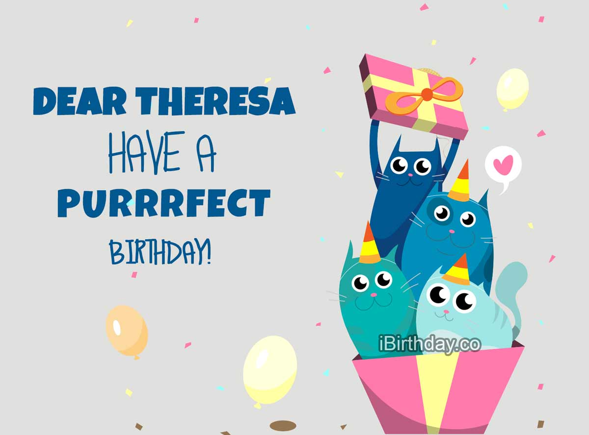 Theresa Cat Birthday Meme