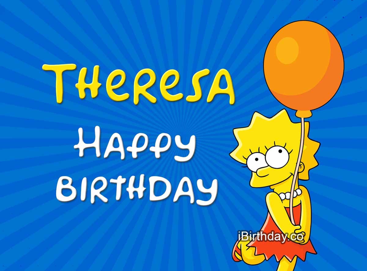 Theresa Lisa Simpson Birthday Meme