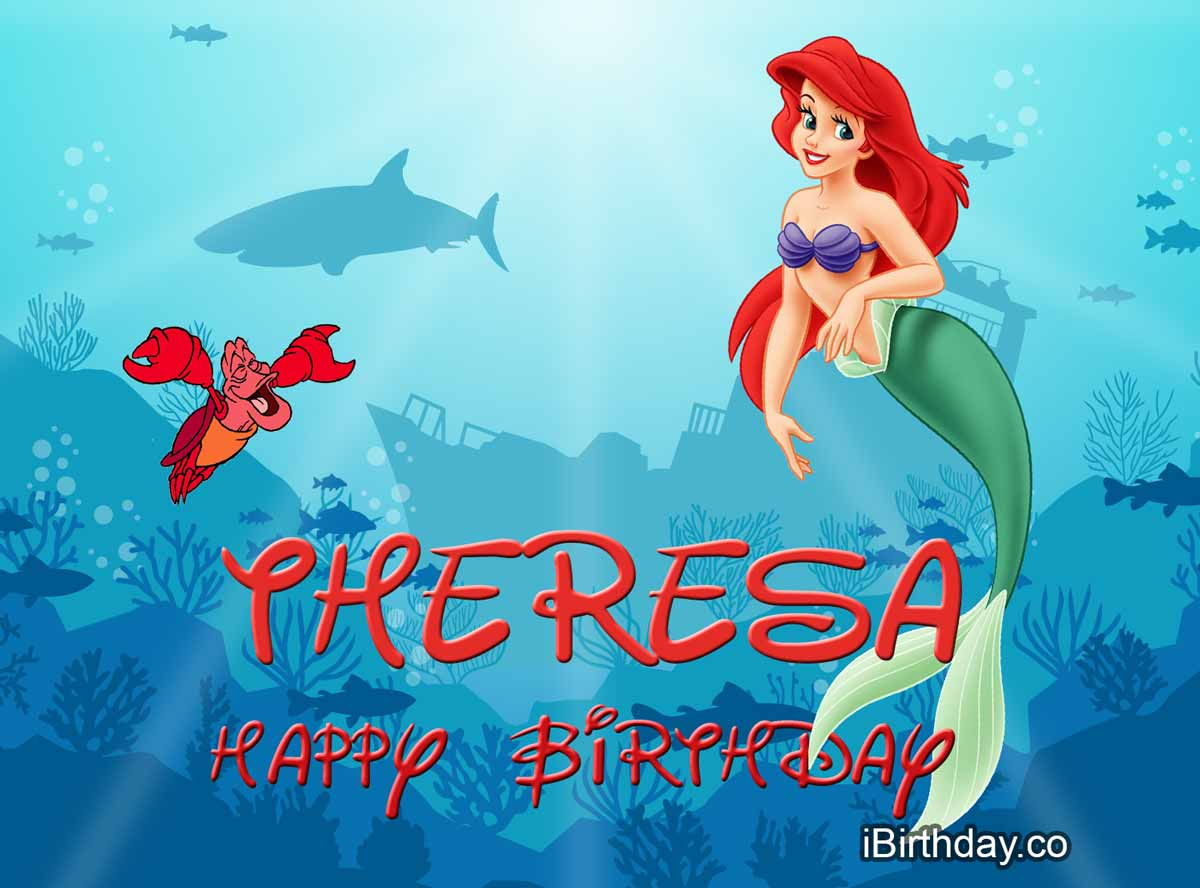 Theresa Little Mermaid Birthday Wish
