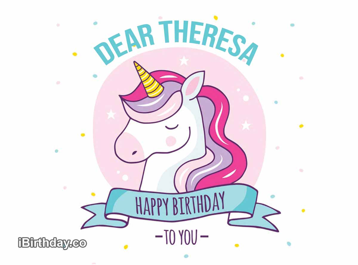 Theresa Unicorn Birthday Wish