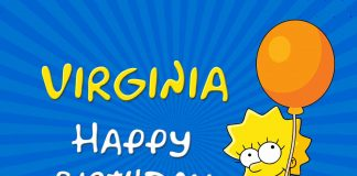 Virginia Lisa Simpson Birthday Meme